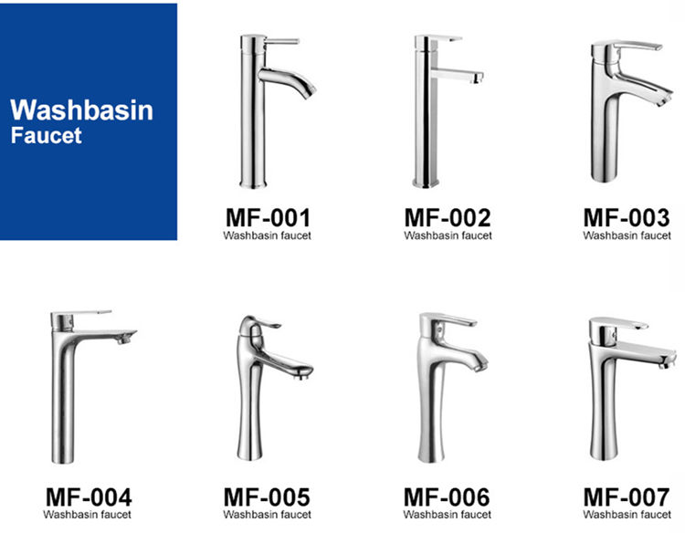 Polishing single handle chrome plated bathroom basin faucets