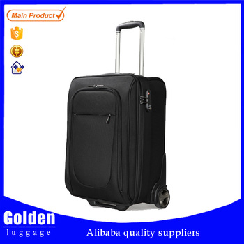 2 Wheels Cheap Luggage Bag 20 Inch Polyester Trolley Suitcase Big ...