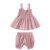 Wholesale 2pcs kids clothes Cotton Sleeveless Birthday Party Outfit summer beach girl clothes