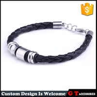 Hiqh Quality Latest 316L stainless Steel Bracelet Woman Men, Bracelet Making Supplies Leather Bracelet