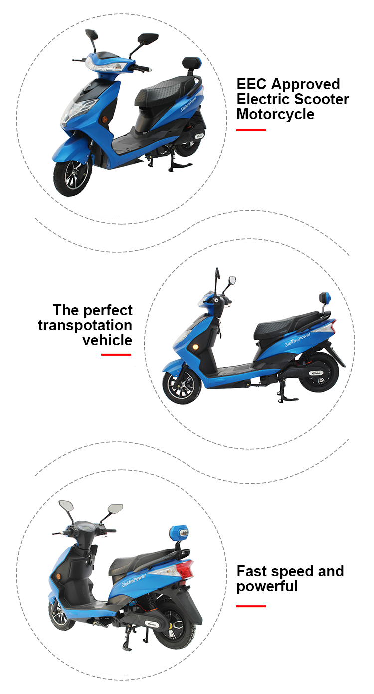 adult Small High power motor Cheap Battery power electric motorscooter