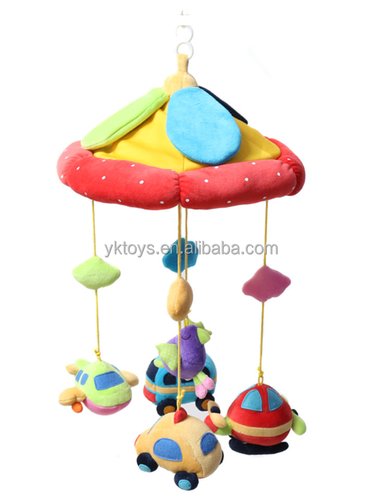 Customize baby bed hanging toys revolve bed hanging toys airplane &car hanging umbrellar
