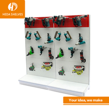Hardware shop floor stand metall pegboard haken display hardware regal werkzeug halter racks