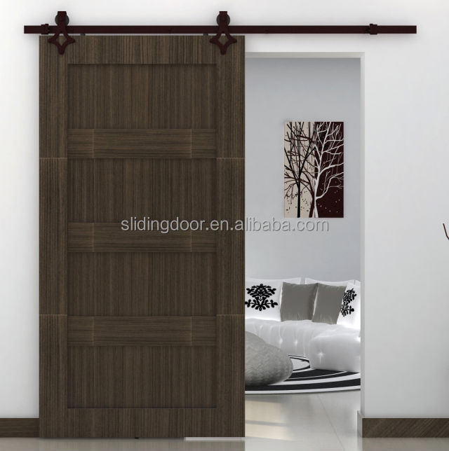 Modern office furniture iron sliding door fittings wooden for Sliding main door