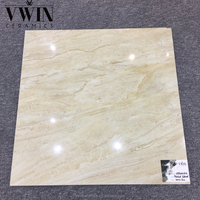 Marble and granite 600*600mm yellow sand stone polished glazed tile synthetic marble flooring