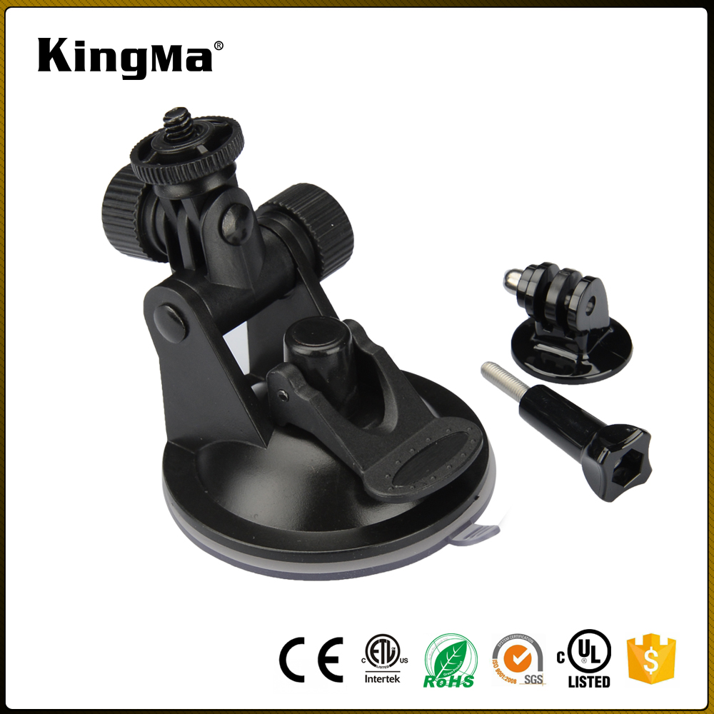KingMa Hot Action Camera Accessories Black Mini Suction Cup for Car Use 7CM Diameter Base for GoPro Hero 5/4/3+/3 for XiaoYi