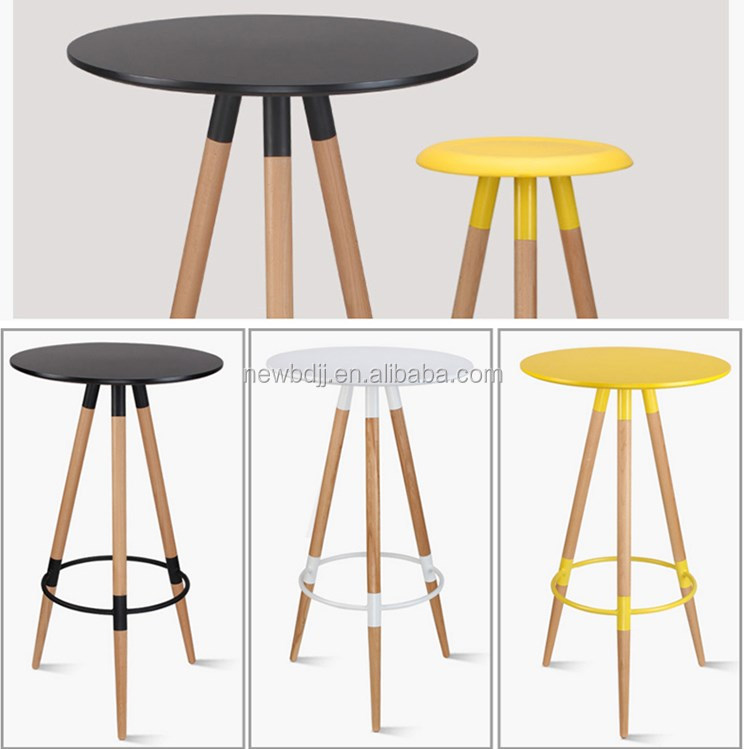 Cheap Bar Tables And Chairs: Factory Supply Modern Three Legs Bar Tables And Chiars