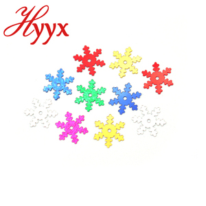 HYYX Wholesale Beauty Country Style pvc snowflake shape confetti