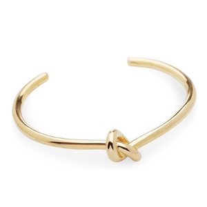 2019 New Design Valentine's Day Lady Accessories Custom Trendy Gold Filled Brass Love Knot Cuff Bangle