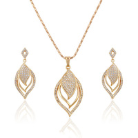 63558- Xuping Ladies fashion gold jewelry set hot