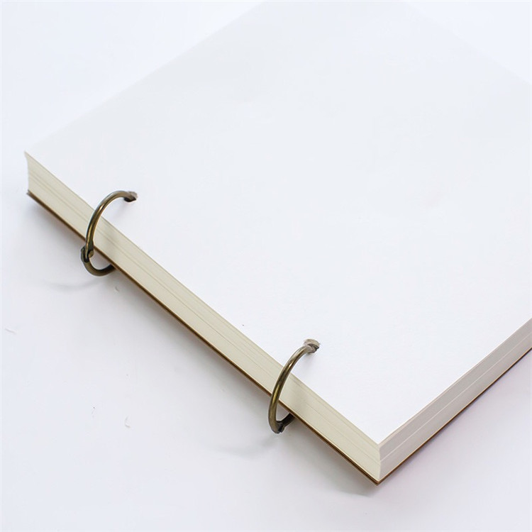 Special Recycle Kraft Paper Notebook With 2 Rings Binding