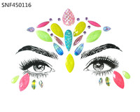 Face Gems Rhinestone Temporary Jewels Festival Party Body Glitter Stickers Flash Glitter Tattoo Stickers Forehead Gems