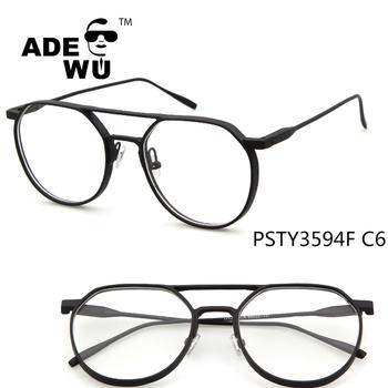 Ade Wu Designer Replica Full Rim Clear Lenses Optical Frames Metal ...
