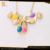high quality gold plated colorful stainless steel jewelry set for women