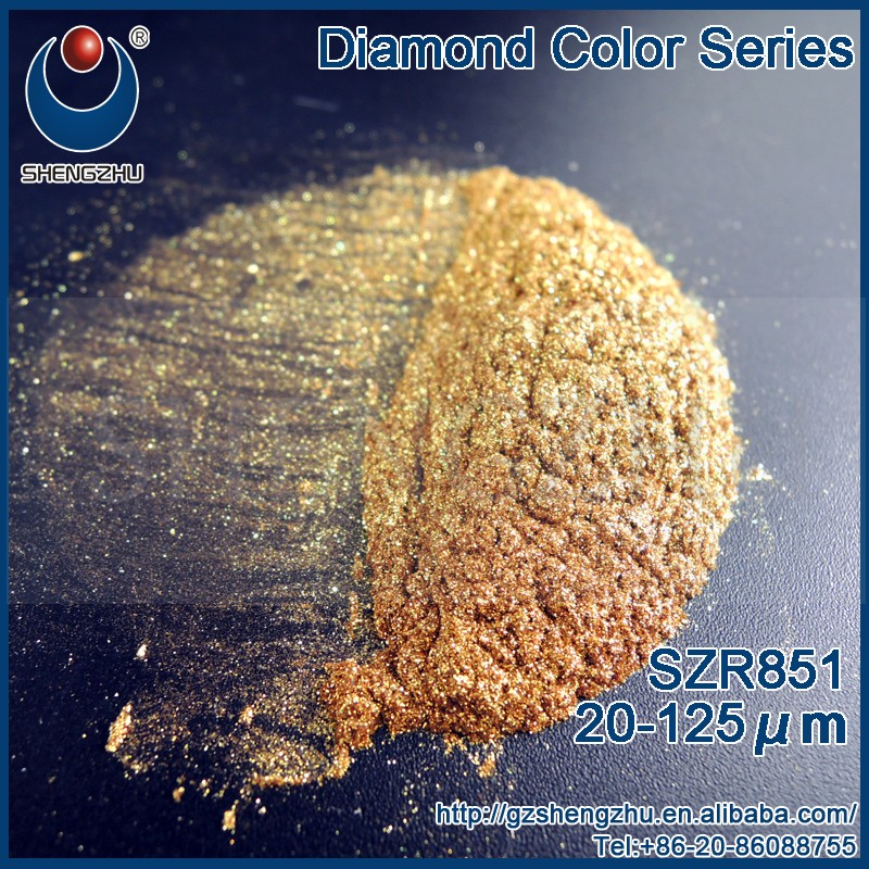 Diamond Gold Copper Powder SZR851Synthetic Mica Pigment For Mac Makeup Foundation