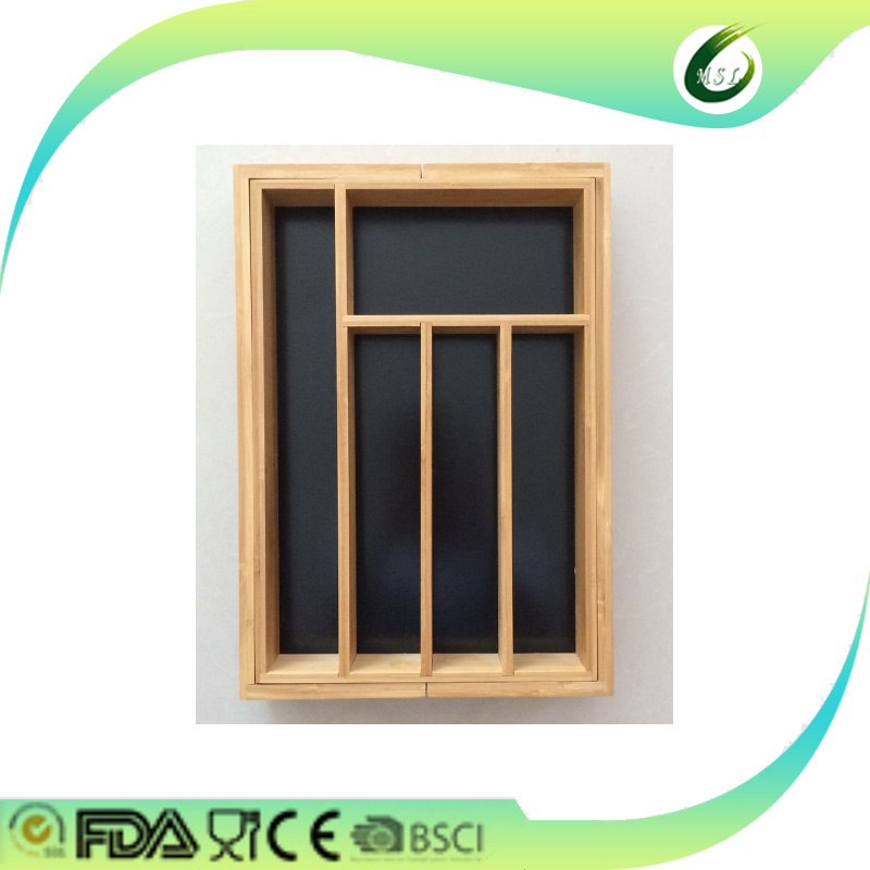 lates bamboo drawer organizer box in market