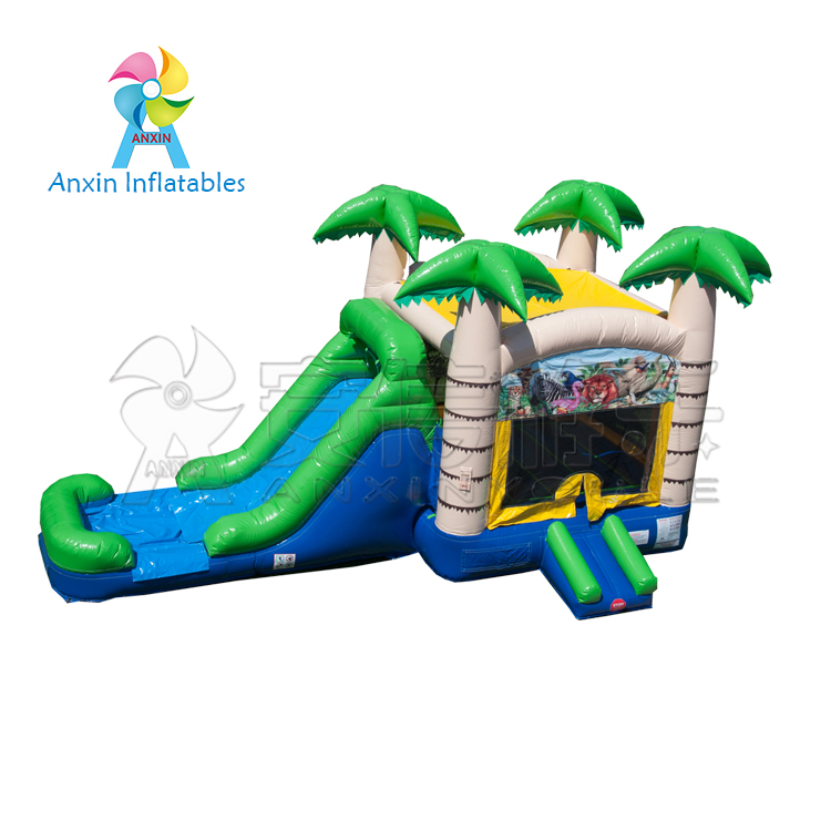 Inflatable Mini Combo Jumper Bouncers Tropical Slide Toys For Kids