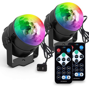 Sound Activated Disco Ball Party Verlichting 7 Kleuren LED Strobe Lights Thuis Birthday Party Dance Bar Club Bruiloft Stadium DJ licht