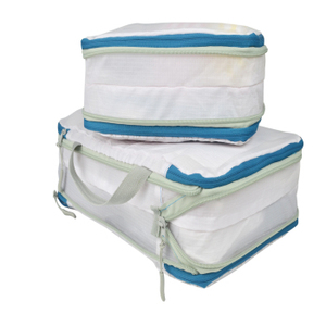 Compression packing cubes sets two pieces travel bag organizer