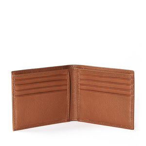 Brown color high quality soft genuine leather credit card men wallet