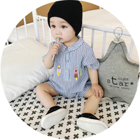 Children's clothing 0-2 year-old boy spring 2017 new spring and autumn long-sleeved children's clothing suit baby clothes
