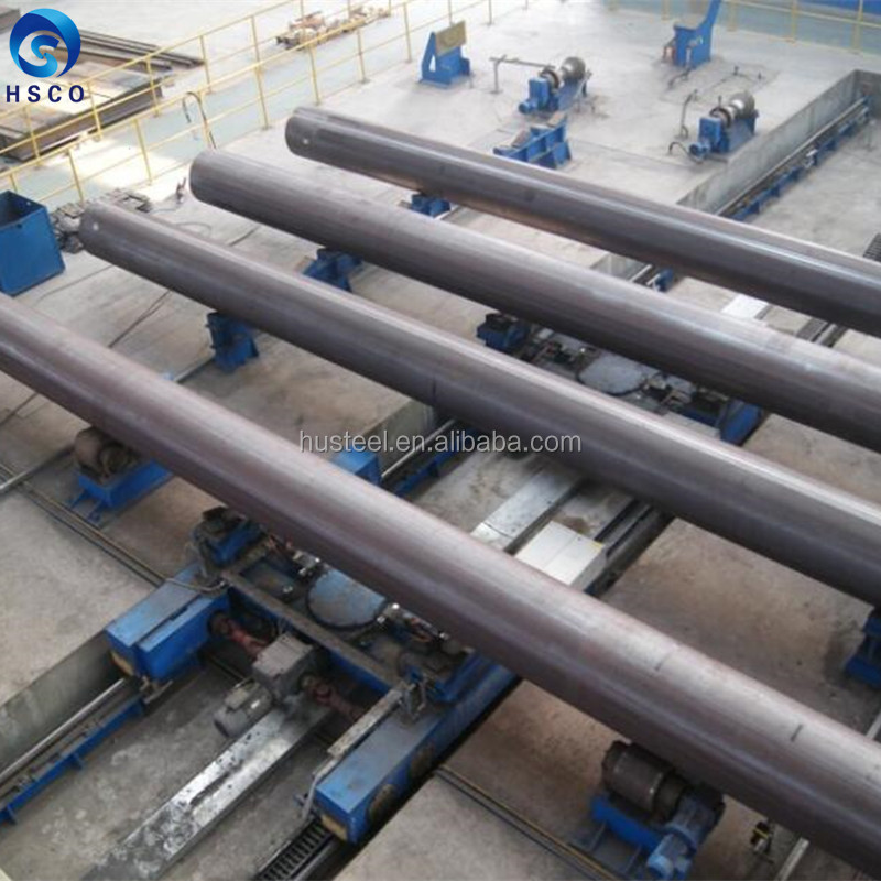 LSAW welded black round steel pipe carbon steel for gas and oil pipeline API standard