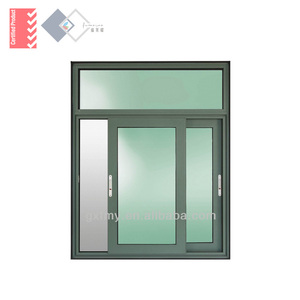 Aluminum Sliding Window with Fixed Light on Top