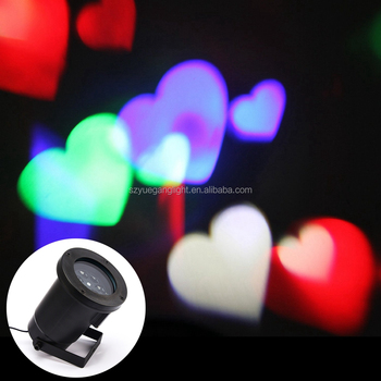 Rvb Coeur Forme Led Projection Gyrophare Projection Nuit Lumière ...