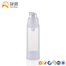 Chine fournisseur emballage en gros vide 15ml 30ml 50ml bouteille cosmétique corps airless bouteille