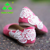 Wholesale Coral Low Wedding Bridal Bridesmaid Ballet Flats Shoes