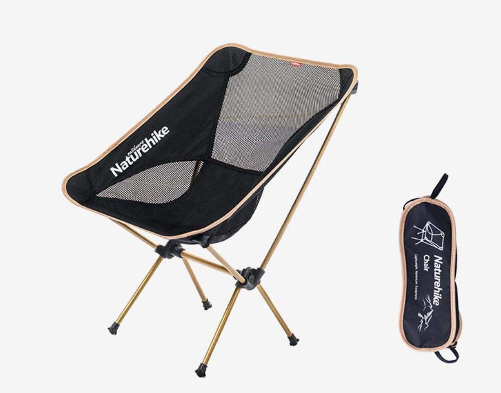 Onfly Outdoor Folding Chair,Sun loungers,Portable Collapsible Camping mesh backrest Stool with Storage bag,Ultralight Folding Reclining Chairs Outdoors Beach Moon Chairs
