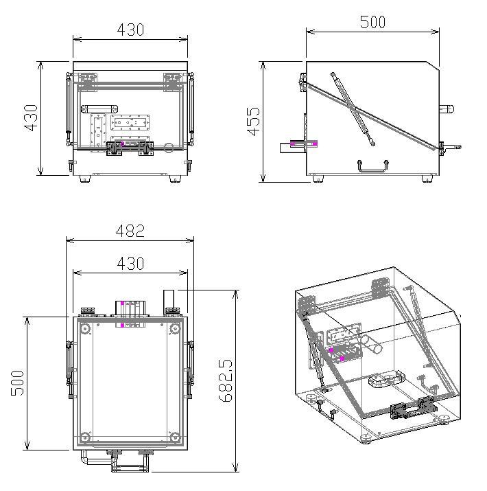 工場0.8-6ghz精密カスタムoemモバイルオーディオemi wifi 5g gsm携帯電話テストマニュアルrfシールドボックス