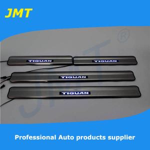 New Arrival! Car Stainless Steel LED door sill plate/Scuff plate for Volkswagen TIGUAN