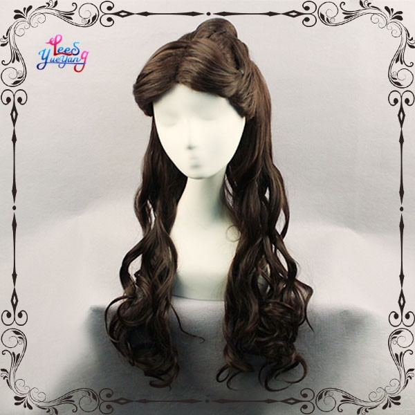 Beauty and the Beast Gaston Black Color Hair Synthetic Wavy Cosplay Wig