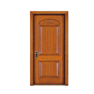 Design carved fashion solid burma teak interior wood door