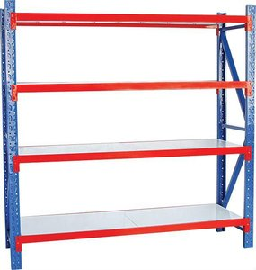 Middle duty warehouse factory storage iron rack for shps