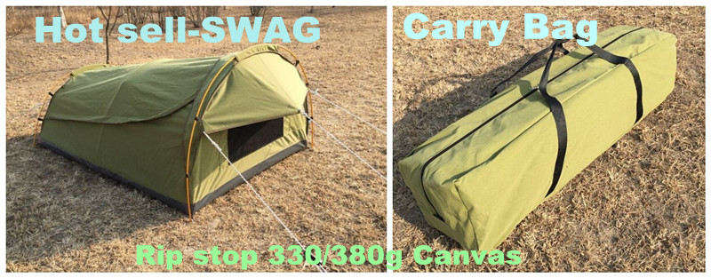 Aluminum frame fire resistance cotton canvas double swag tent & Aluminum Frame Fire Resistance Cotton Canvas Double Swag Tent ...