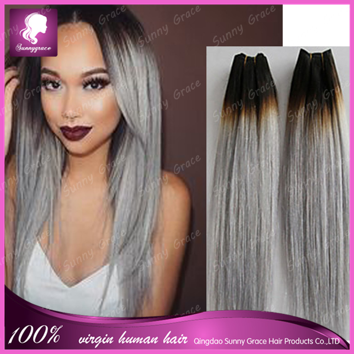 Malaysian ombre silver 1bgrey color human remy hair weave dark malaysian ombre silver 1bgrey color human remy hair weave dark roots black hair weft pmusecretfo Images