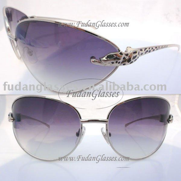 sun glasses metal legs sunglasses 2010 original 1523-2000 Series Limited Panther sunglasses Silver Light gray