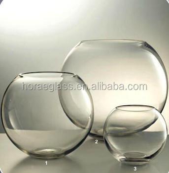 2017 Hot Sale Round Clear Glass Vase Home Decoration Flower Vase Buy Decorative Elegant Glass