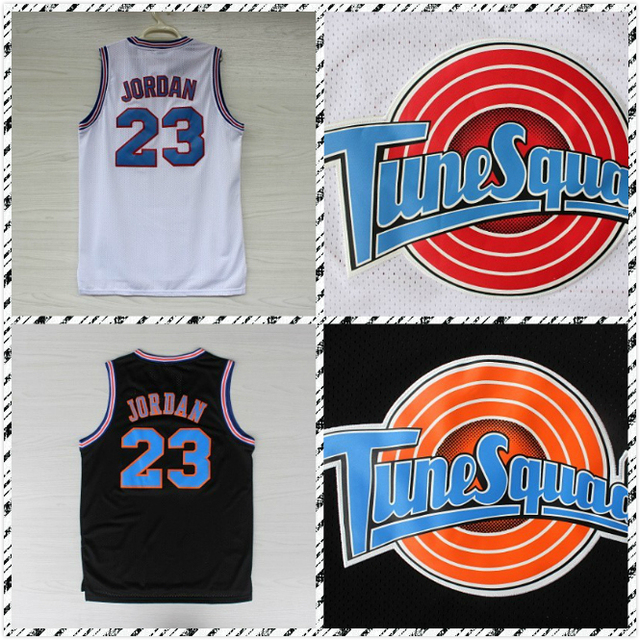 10905d268526e6 nba jerseys chicago bulls 23 michael jordan white tune squad space ...