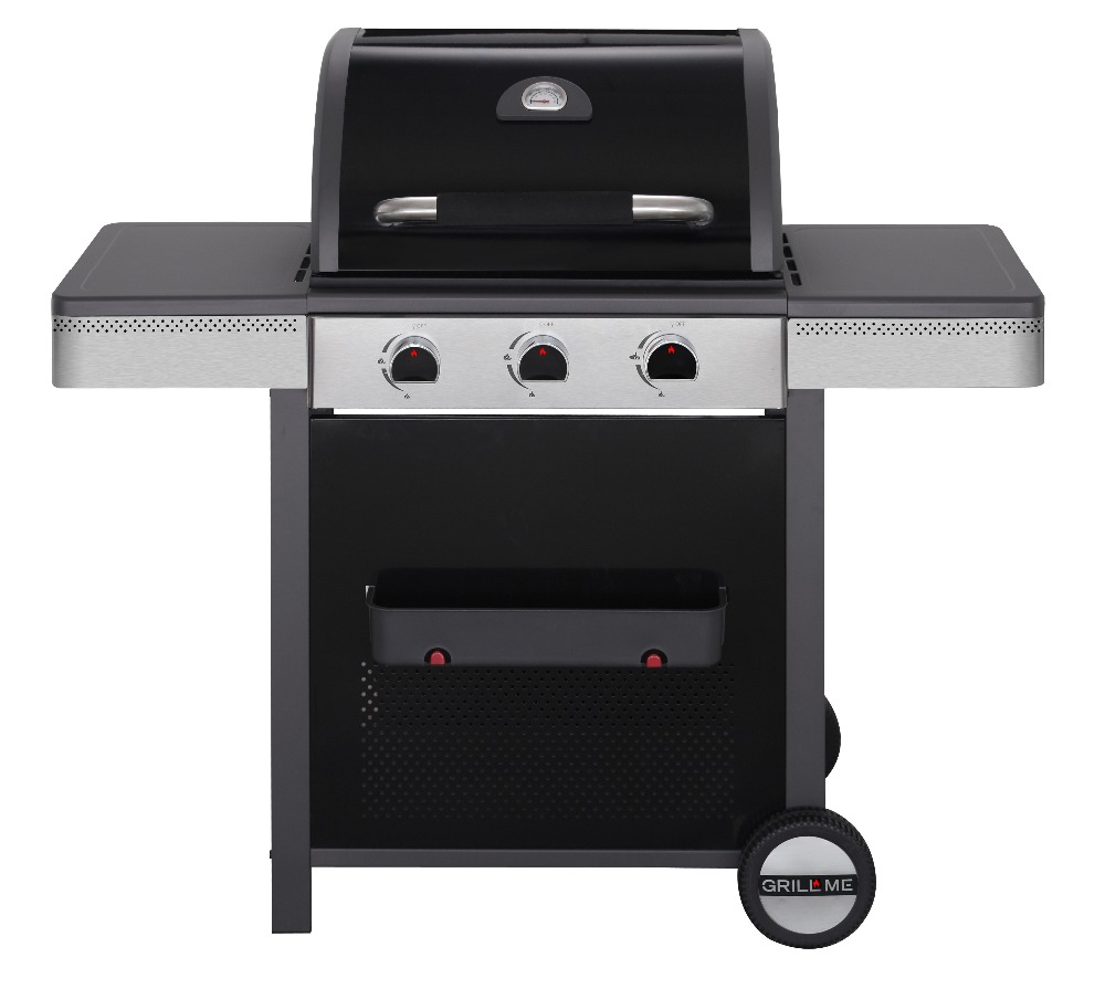 3 BRANDER GAS BARBECUE GRILL BBQ outdoor