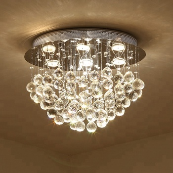 Modern warm light oval crystal chandelier lighting for living room