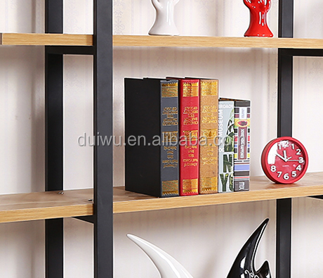 Factory industrial style tree bookshelf design metal rack decorative bookcase