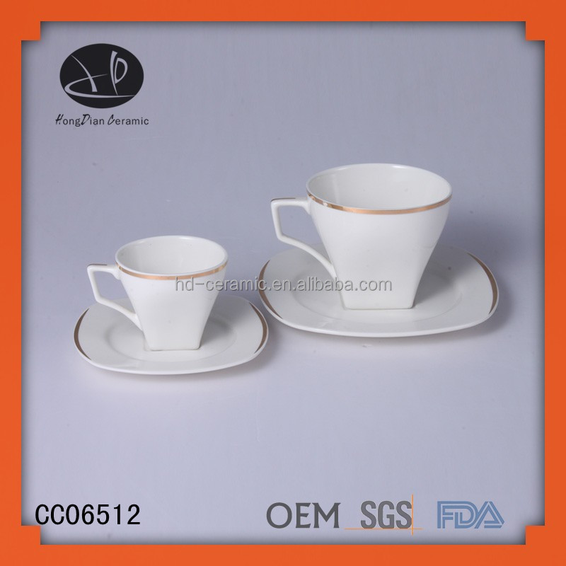 espresso cups ceramic ceramic modern tea cup and saucer with gold rim,	turkish coffee cups
