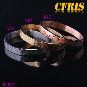 Custom Roman Numerals Bangle Stainless Steel Bangle