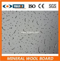 Fiberglass Acoustic Ceiling Tiles Square Edge Mineral Fiber Board