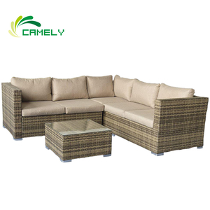 sofa set new designs 2018 patio furniture rattan sofa Promotional day bed outdoor