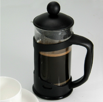 12-Ounce Portable Black Plastic Coffee Maker French Press