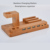 Wholesale OEM 4 Ports USB Charging Dock Bamboo Charging Station for Smartphones Tablets